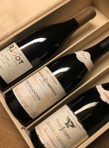 Gift Box Red Burgundy 3 Bottles
